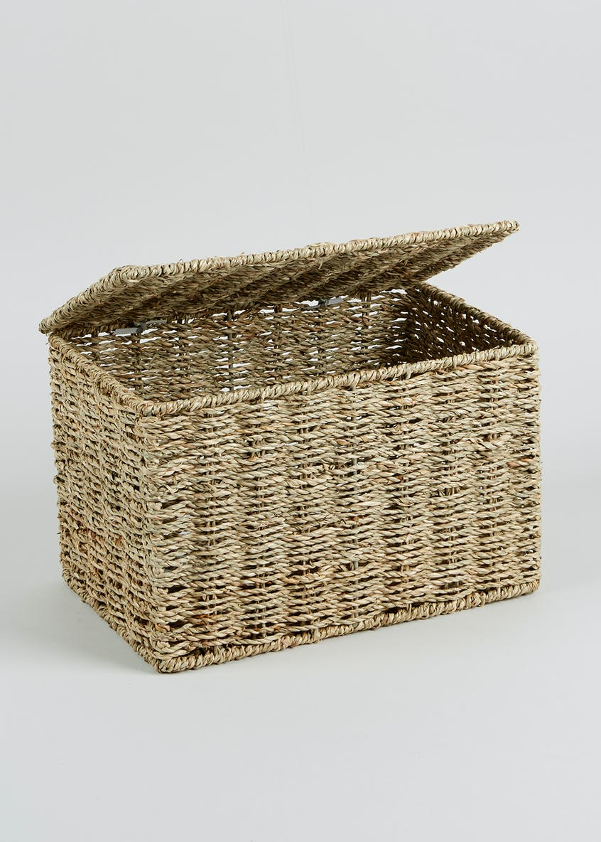 Seagrass Storage Box (29cm x 19cm x 19cm)