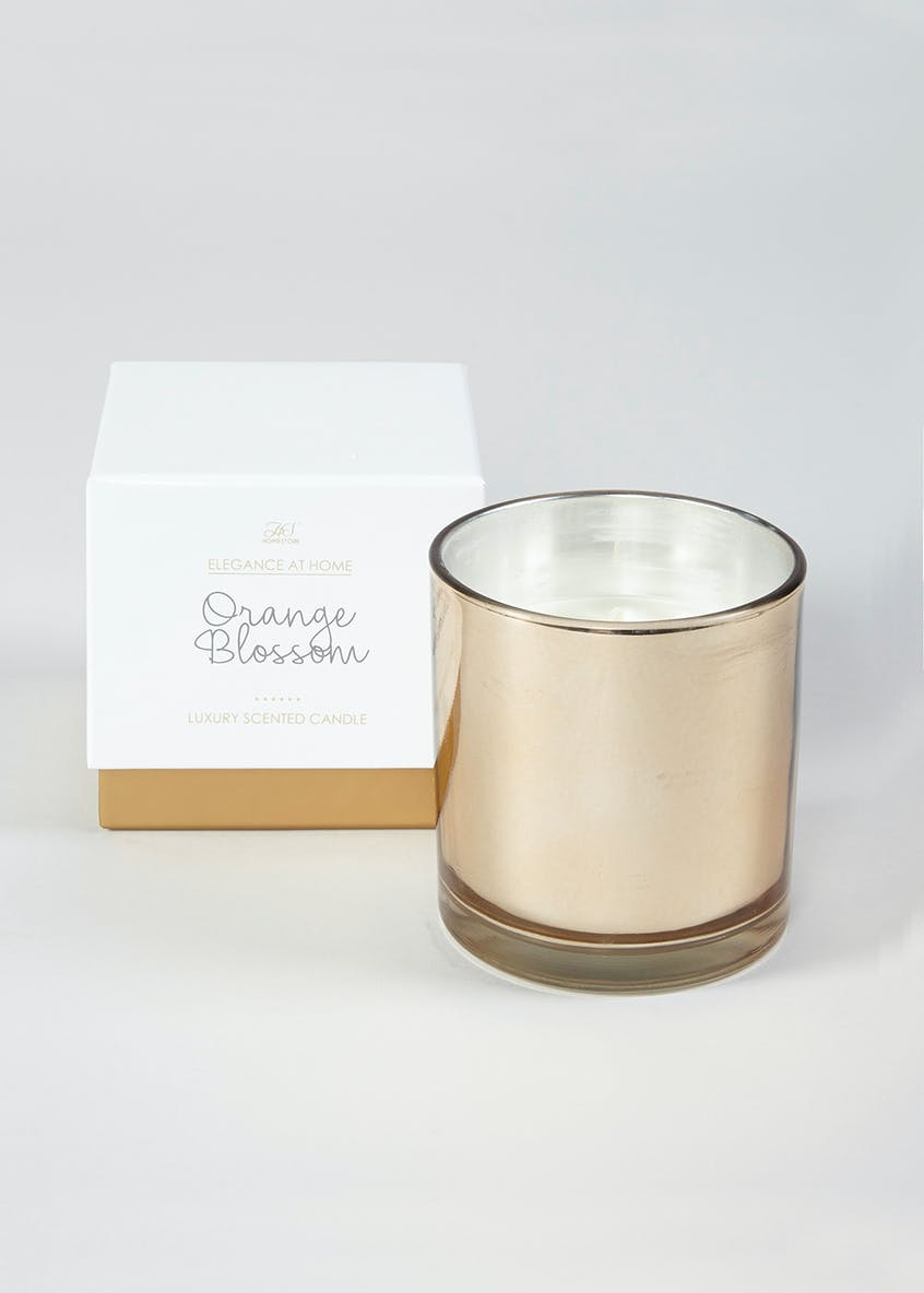 Boxed Orange Blossom Candle (11cm x 11cm x 10cm)