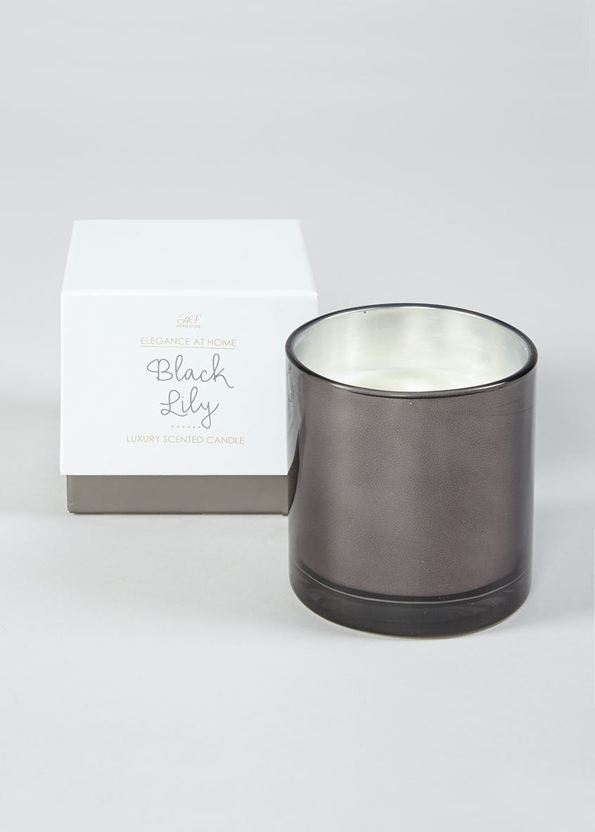 Boxed Black Lily Candle (11cm x 11cm x 10cm)