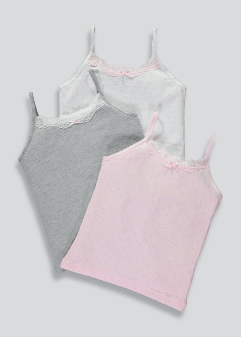 Girls 3 Pack Camis (4-13yrs)