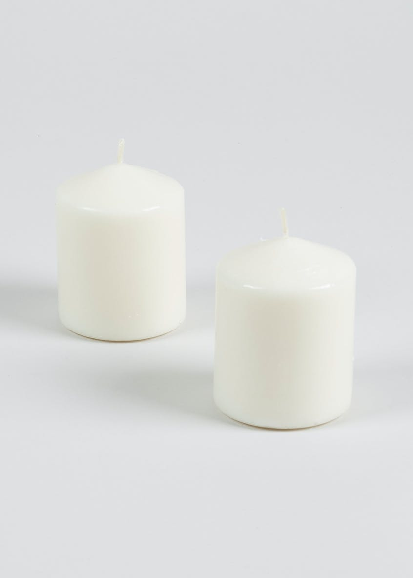 2 Pack Small Church Candles (7cm x 6cm)