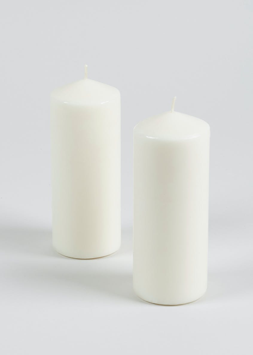 2 Pack Medium Church Candles (14cm x 6cm)