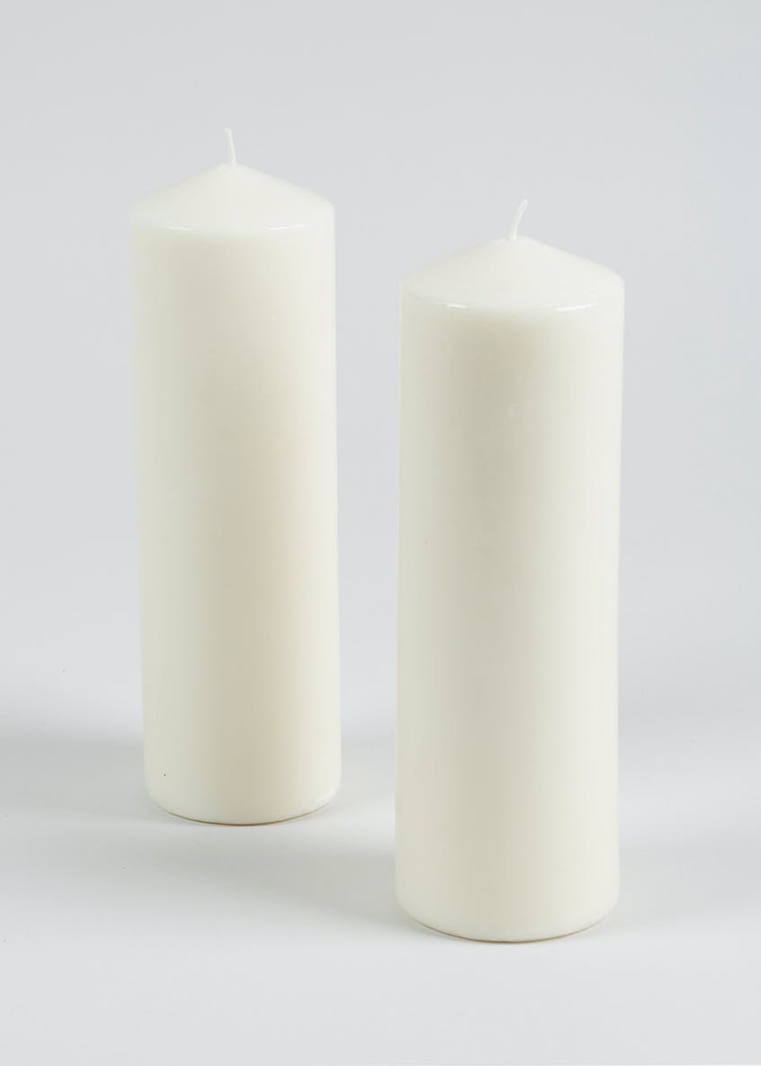 2 Pack Large Church Candles (22cm x 7cm)