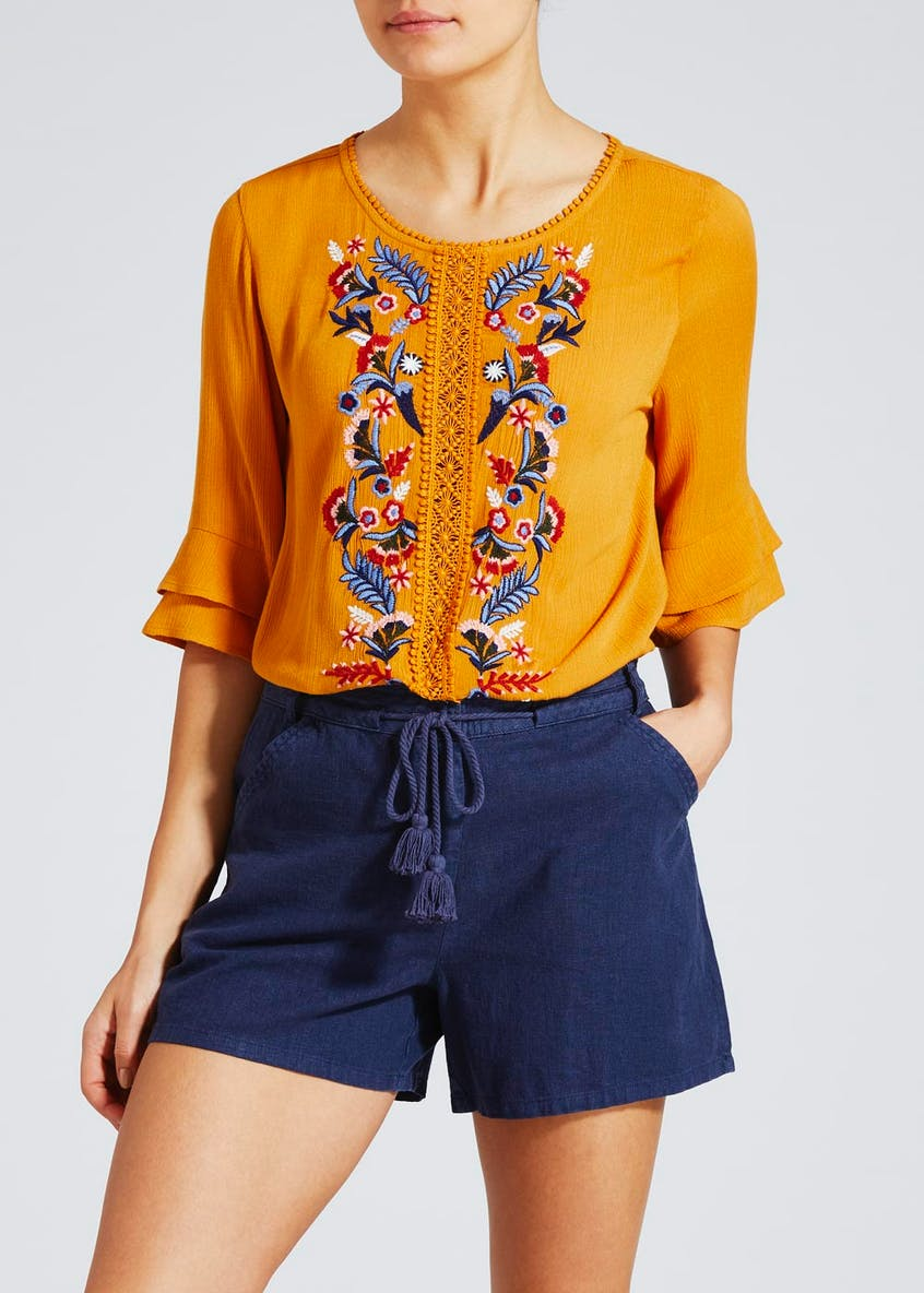 Embroidered Box Top