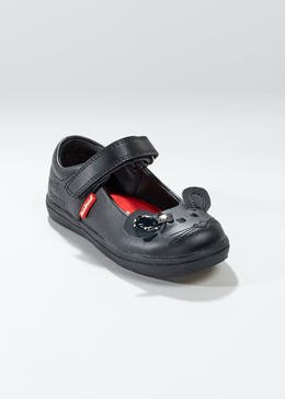 Boys Kickers Reasan Strap Coated Leather Shoes