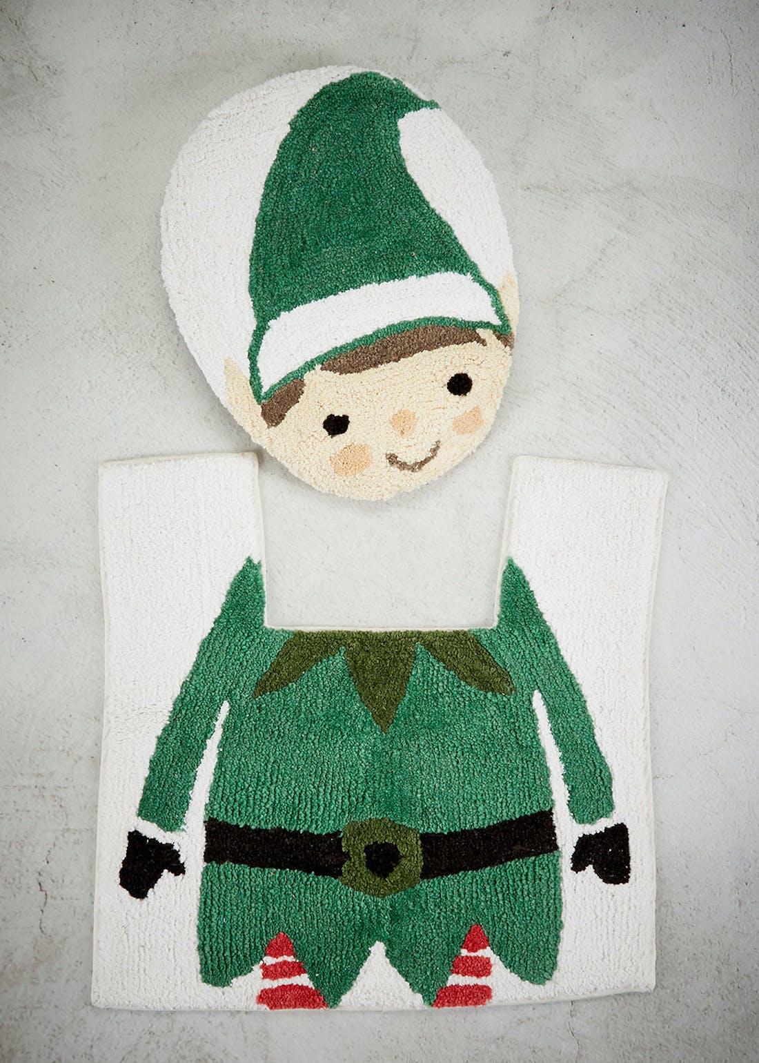 Elf Toilet Seat Cover & Pedestal Mat Set