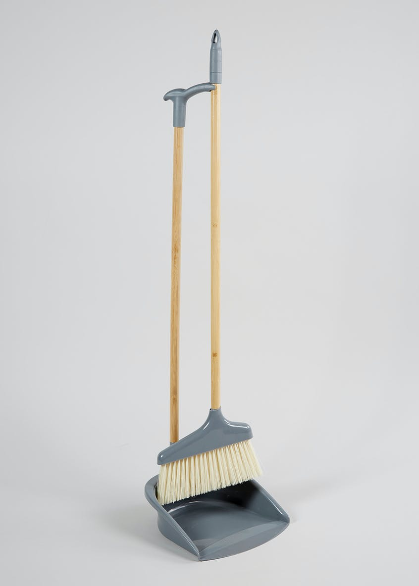 Wooden Dustpan & Brush Set (90cm x 20cm)