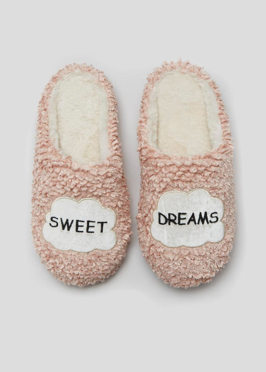 Slogan Slipper Mules