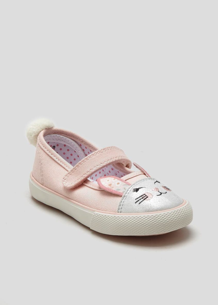 Girls Bunny Canvas Pump (Younger 4-12)