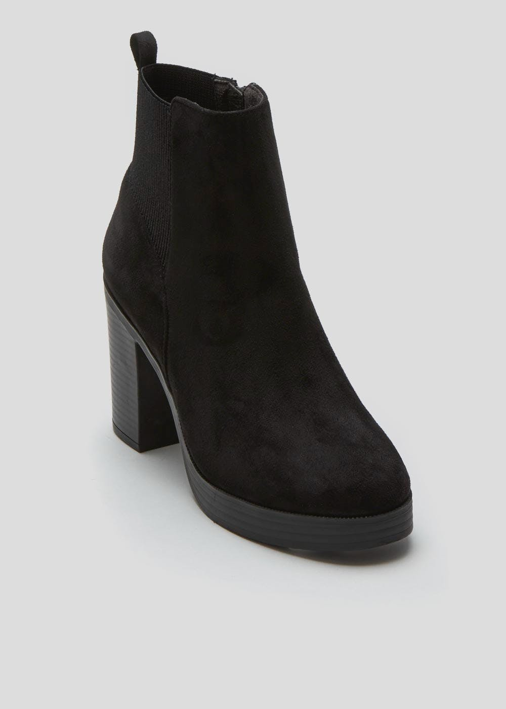 Chunky Ankle Boots – Black – Matalan