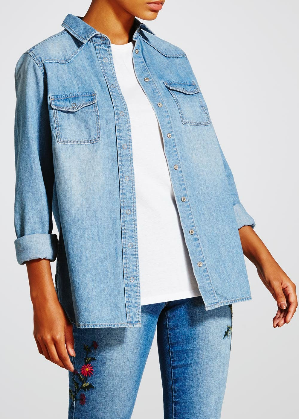 Denim Shirt – Midwash – Matalan