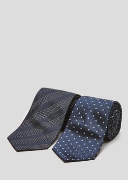 Twin Pack Patterned Ties