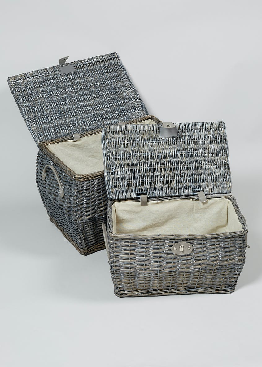 2 Pack Will Baskets (58cm x 40cm x 40cm)
