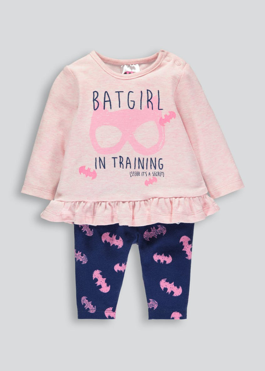 Girls Batgirl Top & Bottoms Set (Newborn-12mths)
