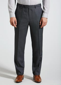 Regular Fit Birdseye Wool MixTrousers