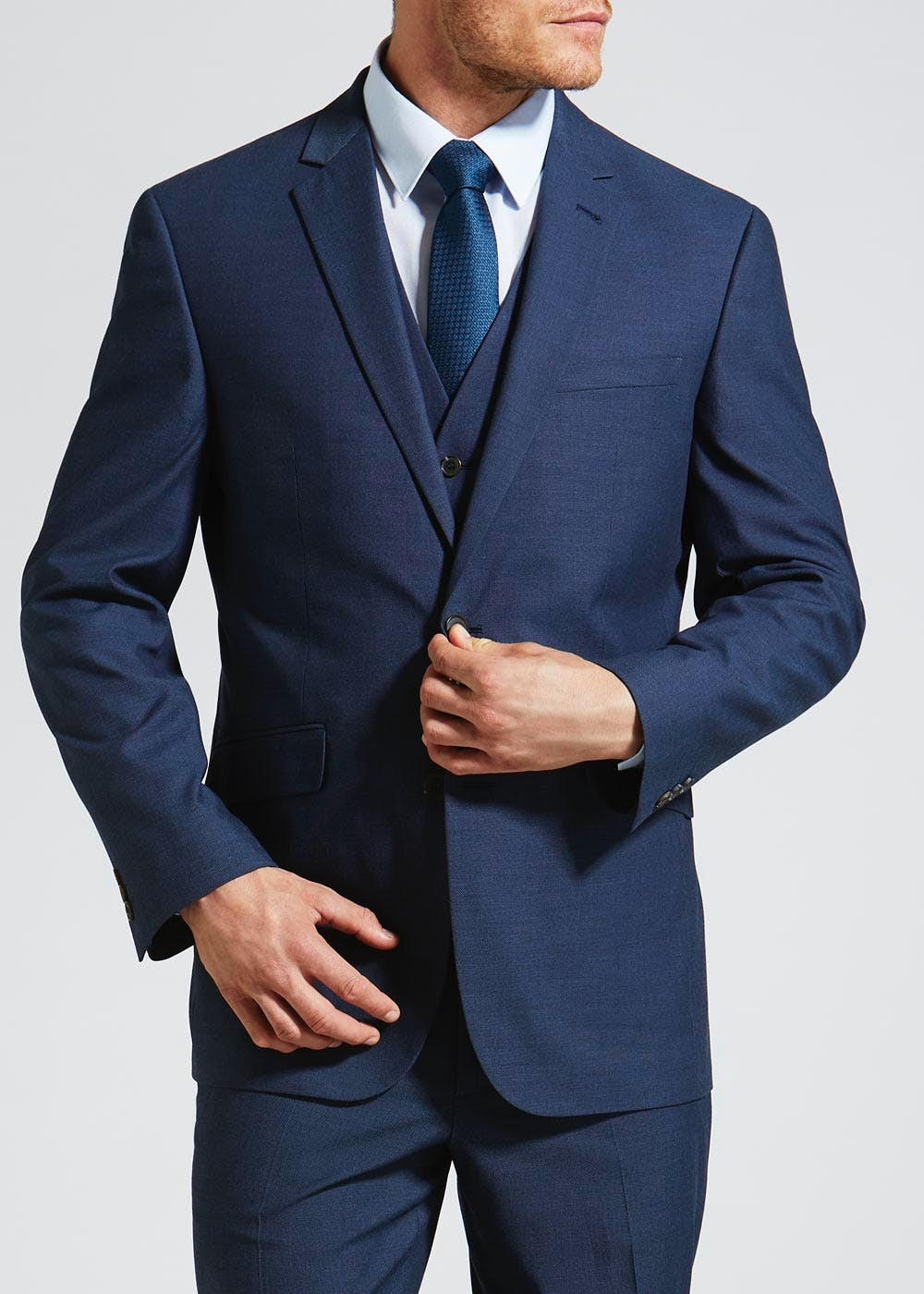 Crosby Regular Fit Suit Jacket – Blue – Matalan