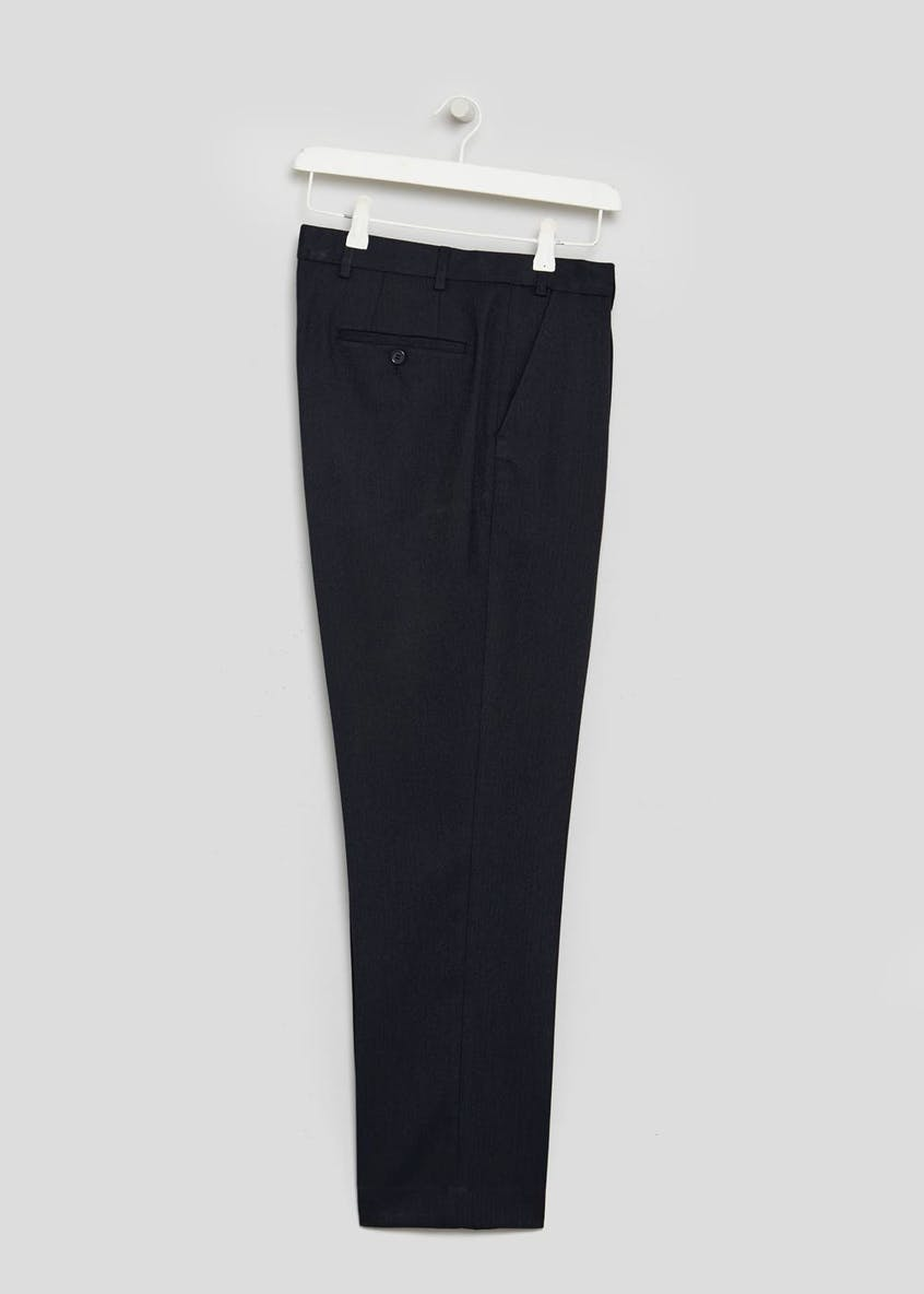 Regular Fit Herringbone Trousers