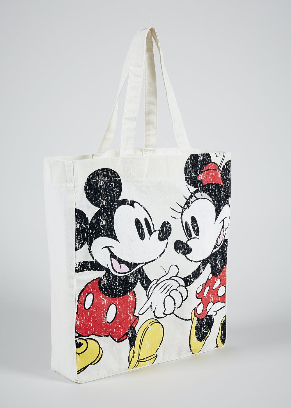 Kids Disney Minnie And Mickey Mouse Canvas Tote One Size