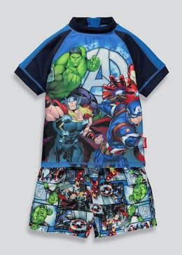 Unisex Avengers 2 Piece Surf Suit (2-11yrs)