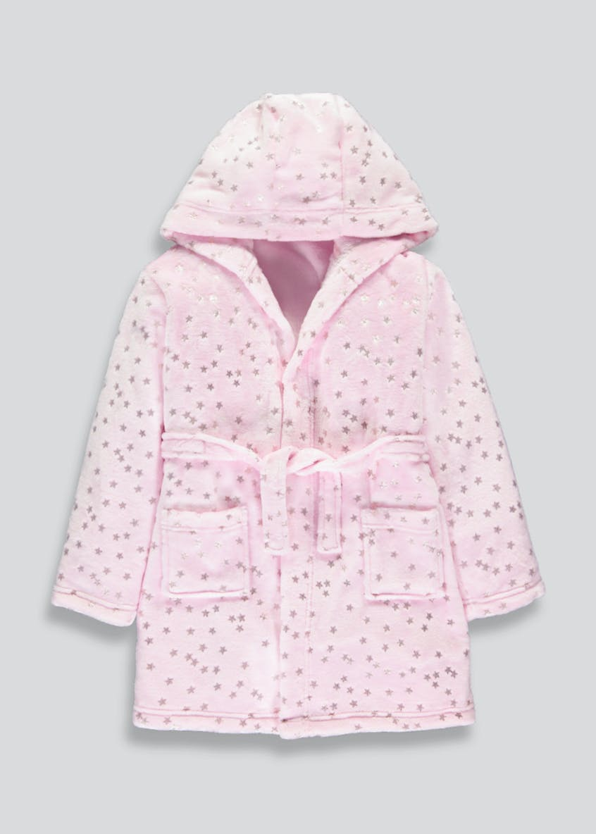 Girls Fleece Dressing Gown (4-13yrs)