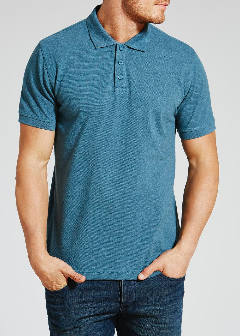 Essential Polo Shirt – Teal – Matalan
