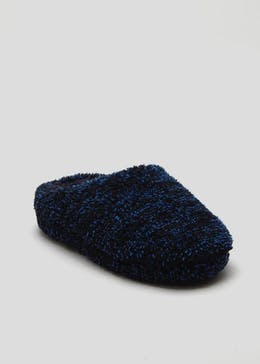 Boys Fluffy Slipper Mule (Younger 10-Older 6)
