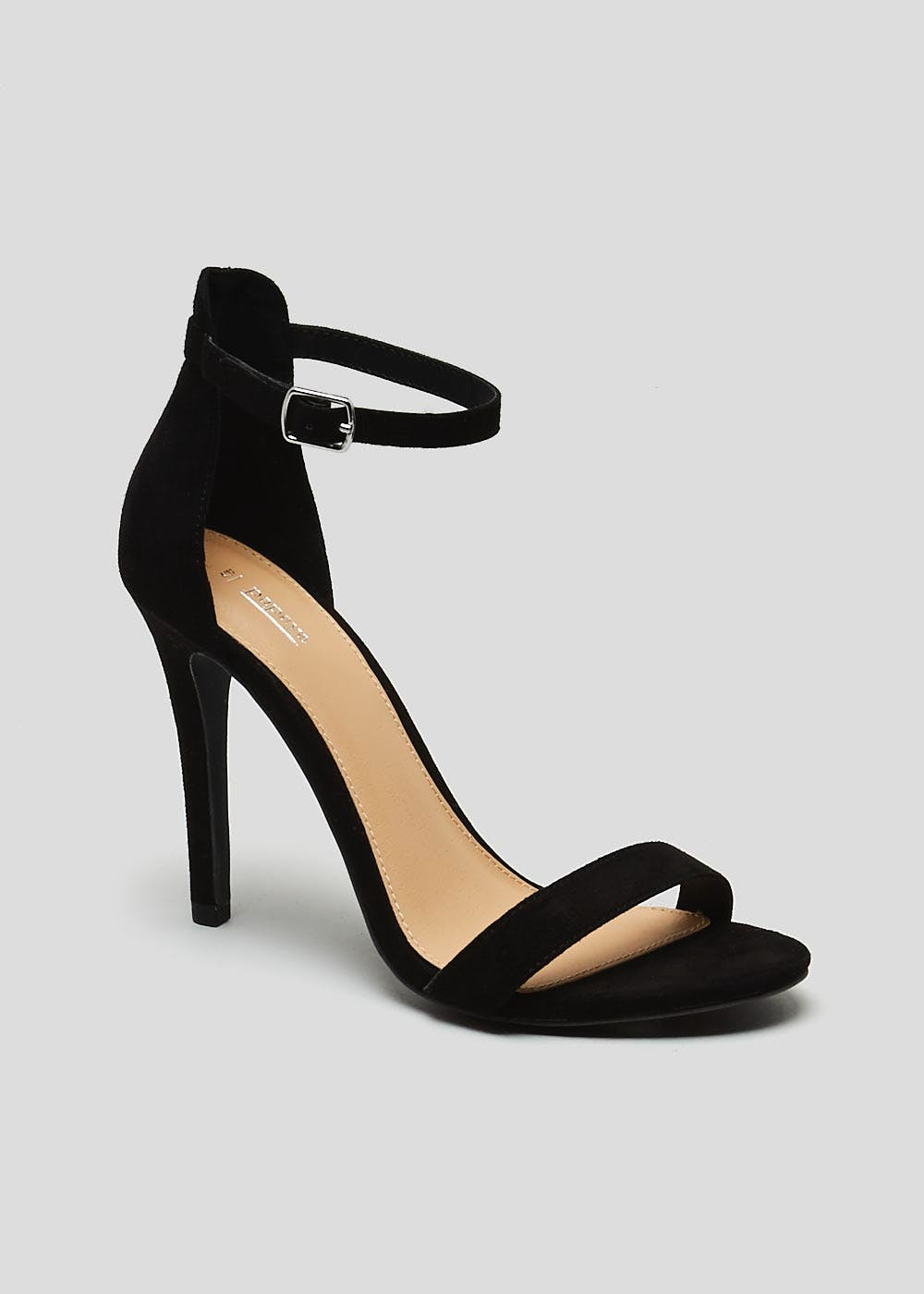 2686a028db8 Barely There Strappy Heels – Black – Matalan