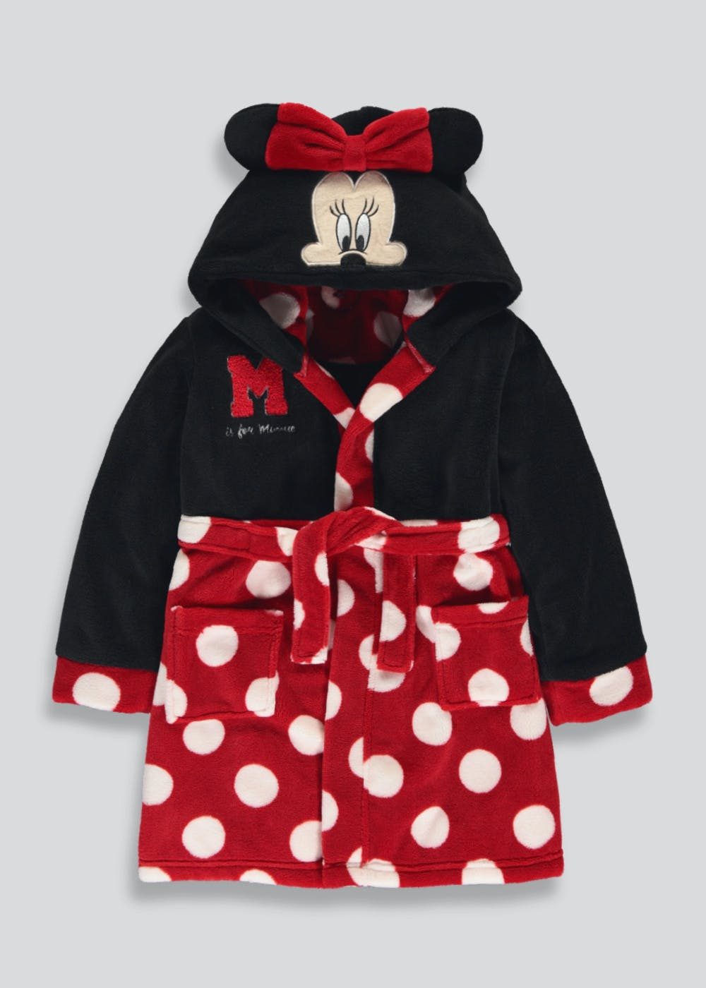 Girls Minnie Mouse Novelty Dressing Gown (4-11yrs) – Red – Matalan