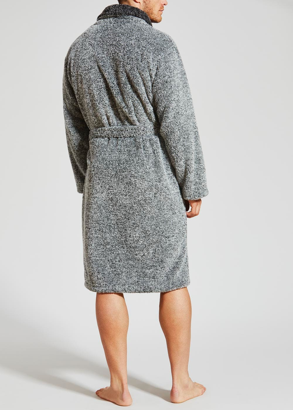 Premium Dressing Gown – Light Grey – Matalan