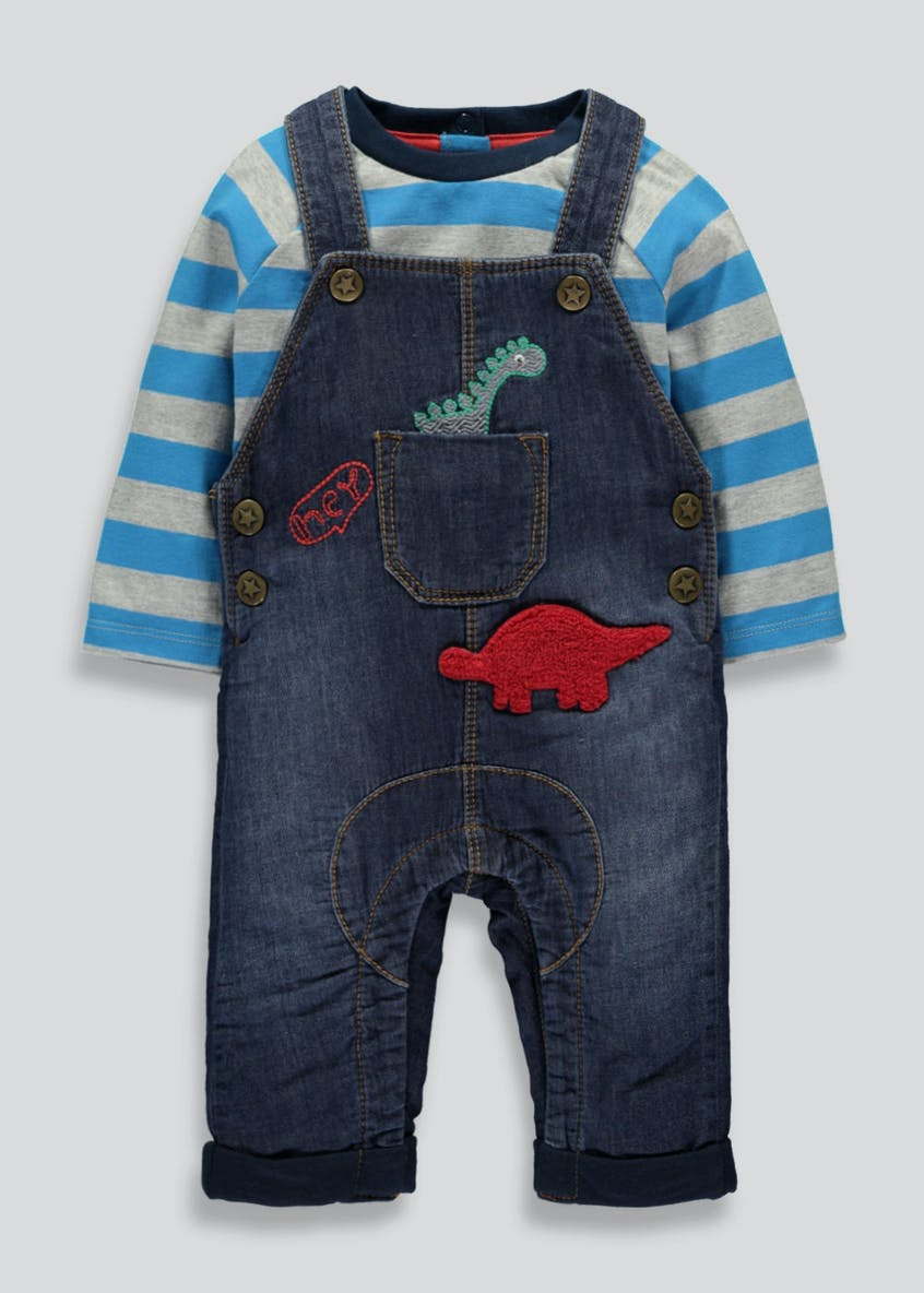 Boys Denim Dungaree Set (Newborn-18mths)