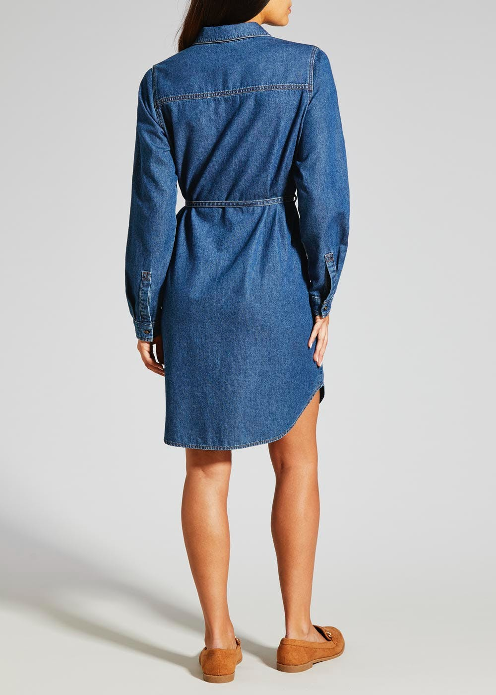 Denim Shirt Dress – Midwash – Matalan