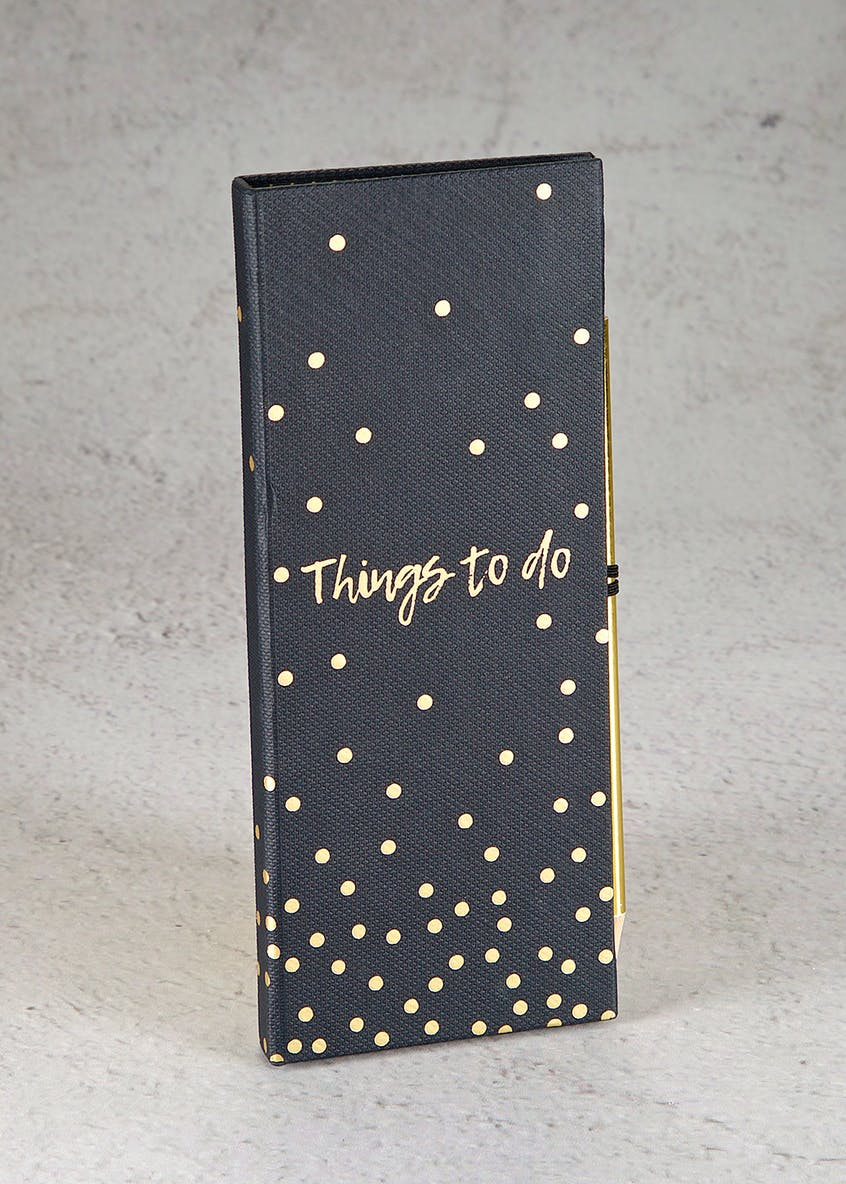 Things To Do Notebook (23cm x 10cm)