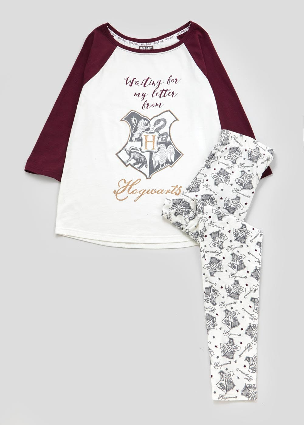 3bd54bb027 Harry Potter Pyjama Set – White – Matalan