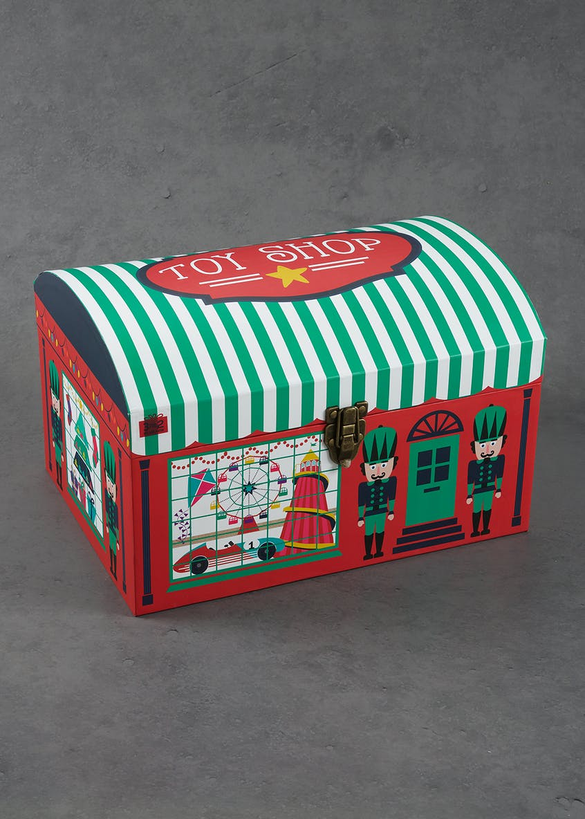 Chest Style Christmas Gift Box 40cm X 30cm X 25cm Red