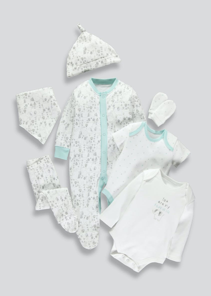 Unisex 7 Piece Set (Tiny Baby-12mths)
