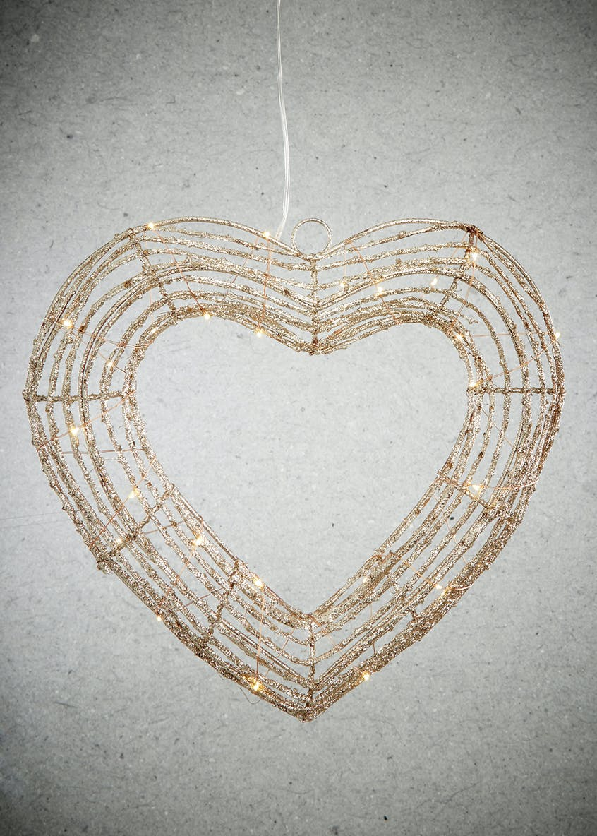 LED Heart Christmas Decoration (35cm x 35cm)