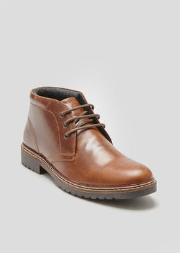 Real Leather Chukka Boots