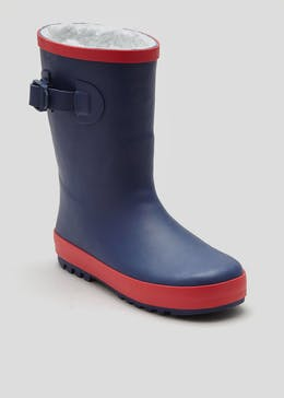 Boys Fur Lined Wellies (Younger 10-Older 6)
