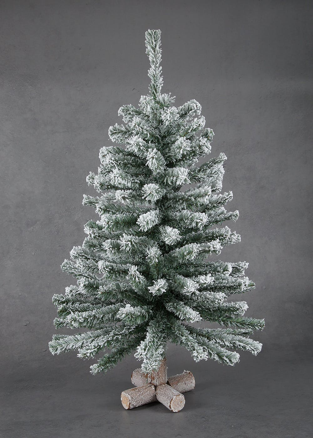 Mini Snowy Christmas Tree 95cm X 40cm Green Matalan