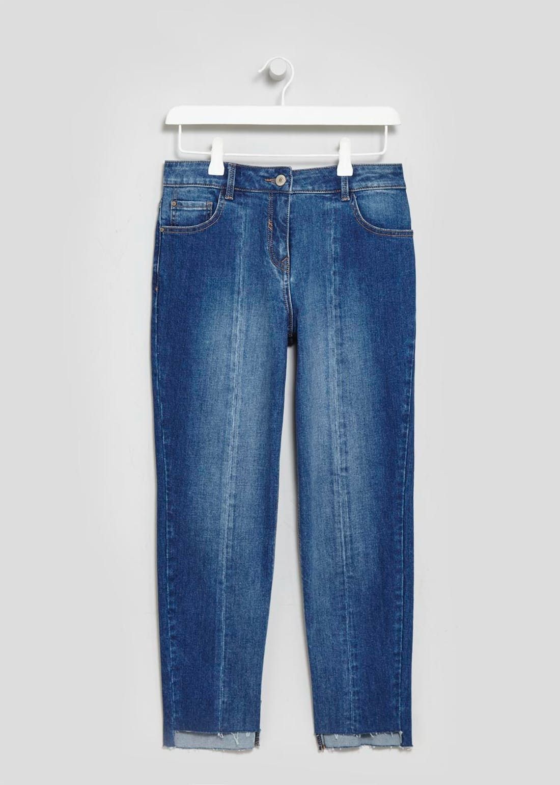 Panelled Cropped Jeans