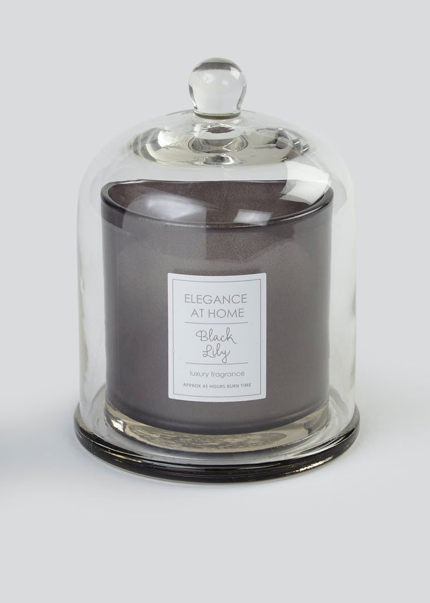 Black Lily Scented Candle (19cm x 14cm)