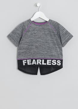 Girls Souluxe Fearless Sports Cropped T-Shirt (9-16yrs)