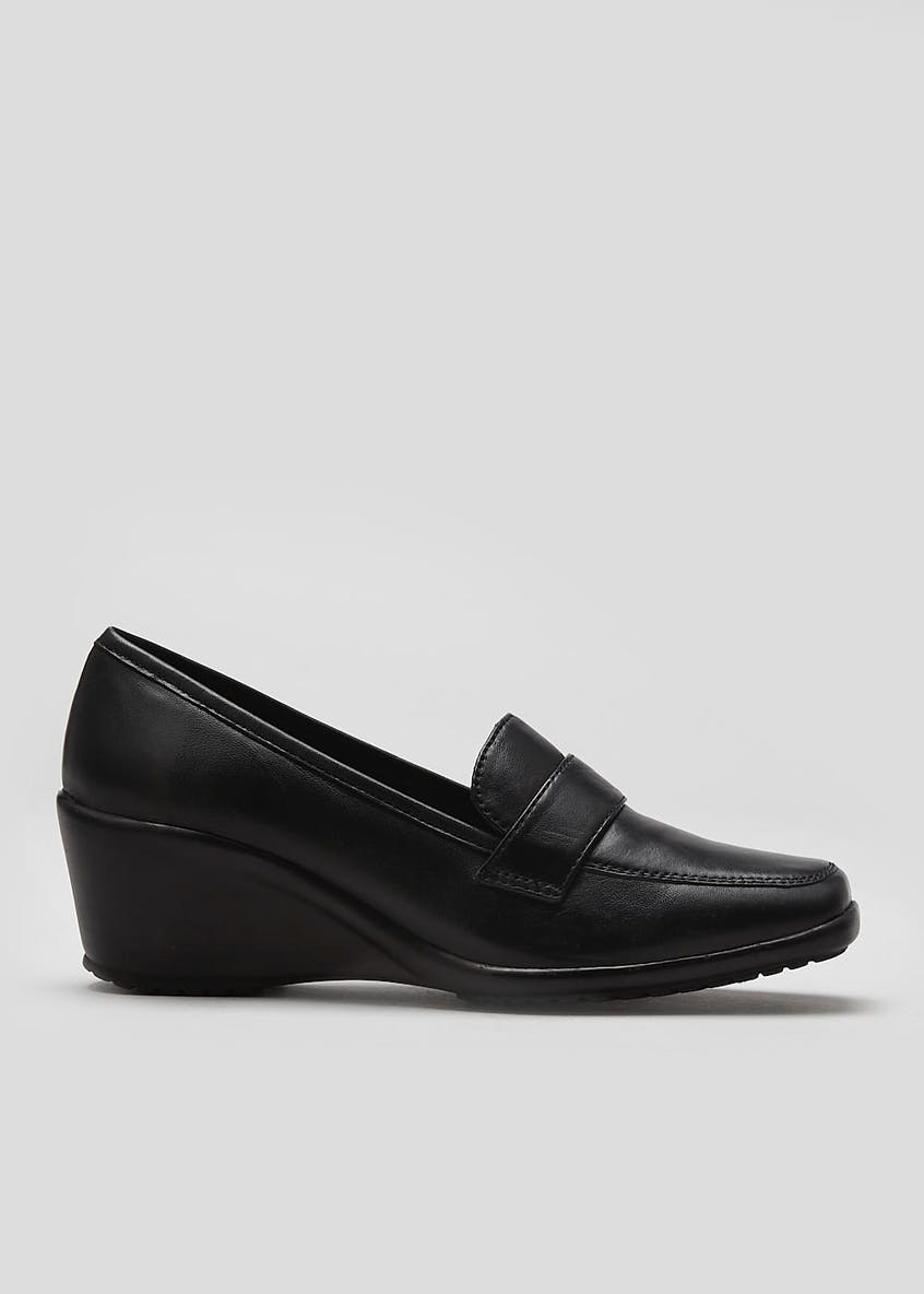 Soleflex Real Leather Wedge Shoes