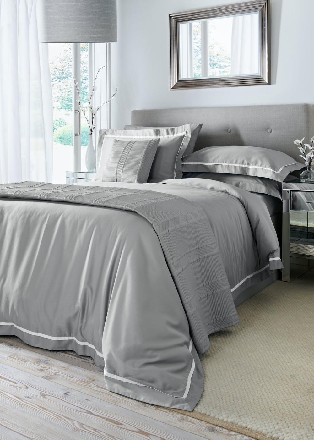 100 Cotton Willow Home Duvet Cover 400 Thread Count