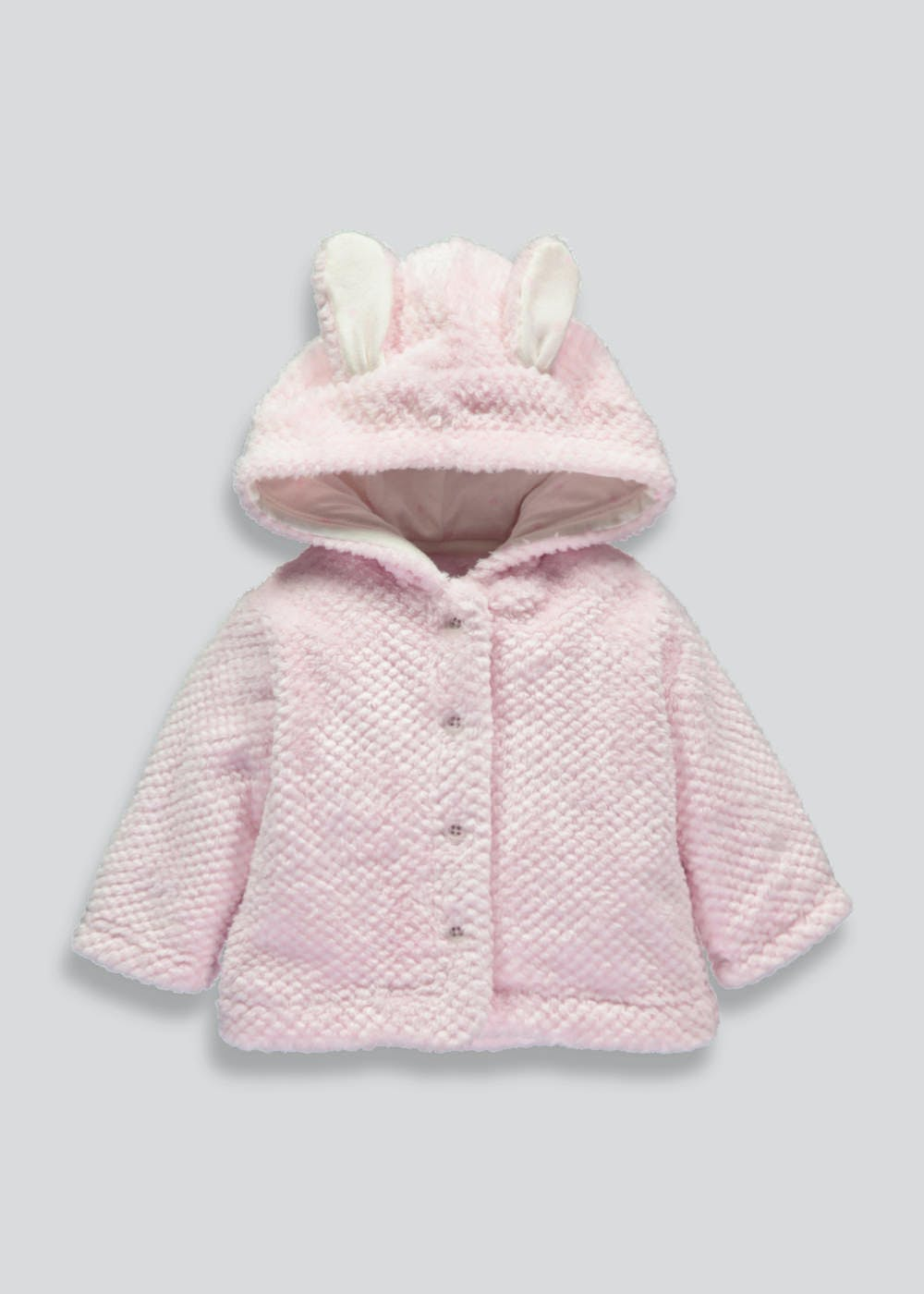 bf15ba69f5a0 Girls Fleece Jacket (Tiny Baby-18mths) – Pink – Matalan