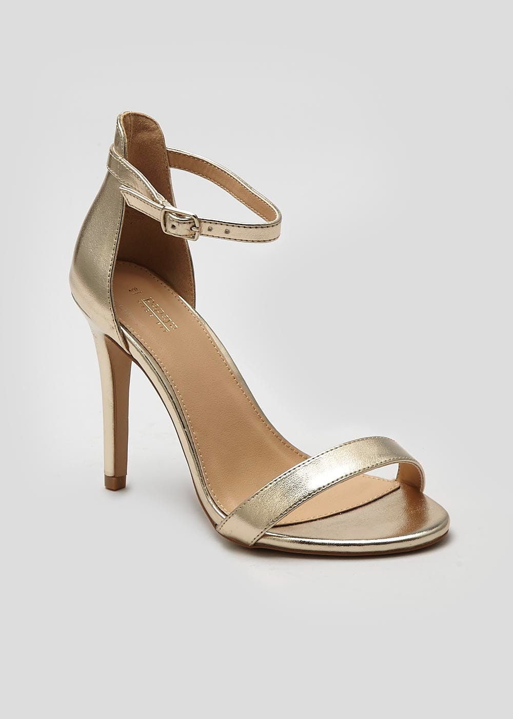 Wide Fit Barely There Heeled Sandals