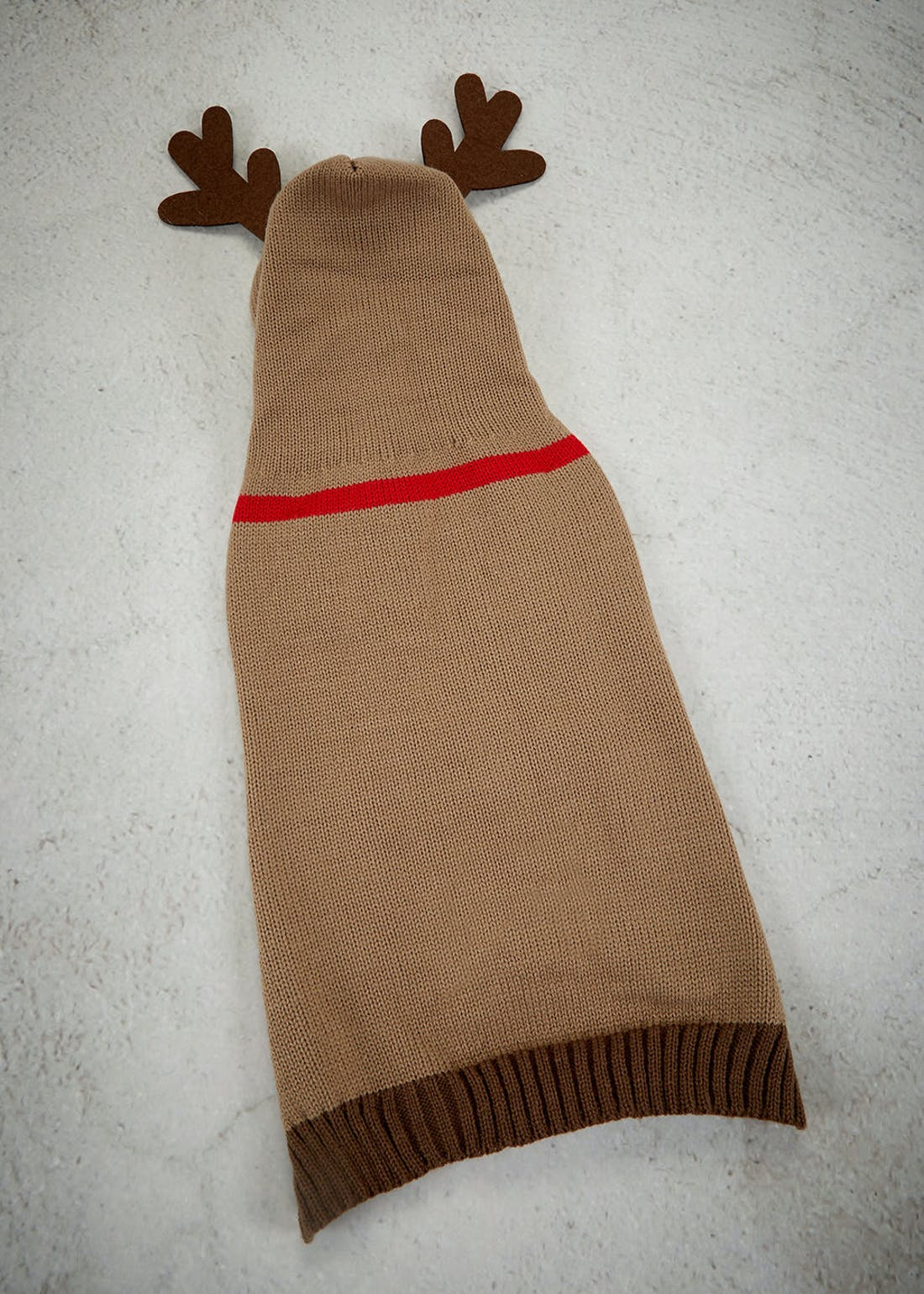 Knitted Reindeer Dog Outfit