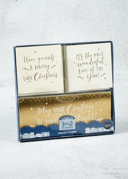 15 Pack Slogan Christmas Cards