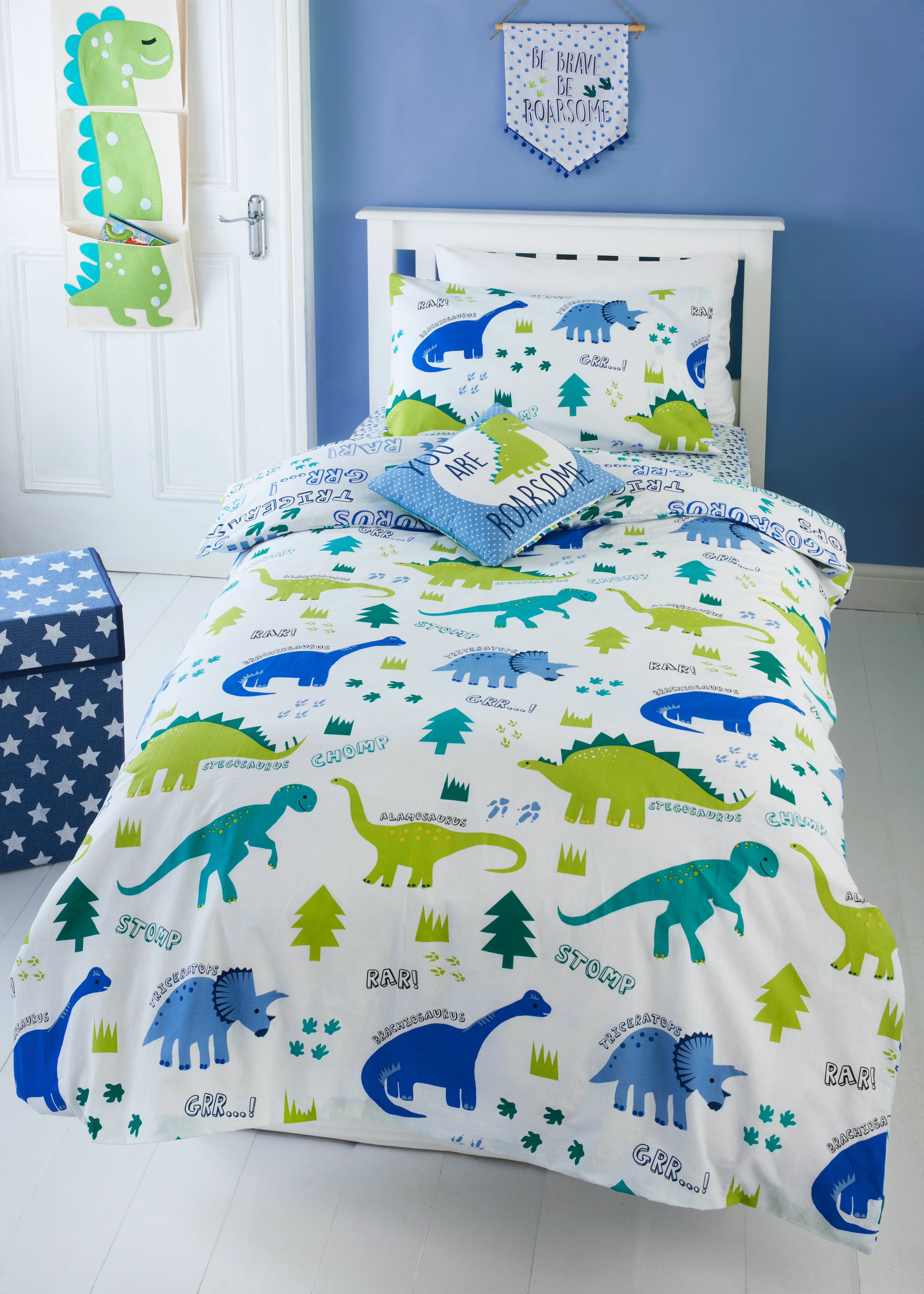 Toddler Dinosaur Print Duvet Cover Small Bed