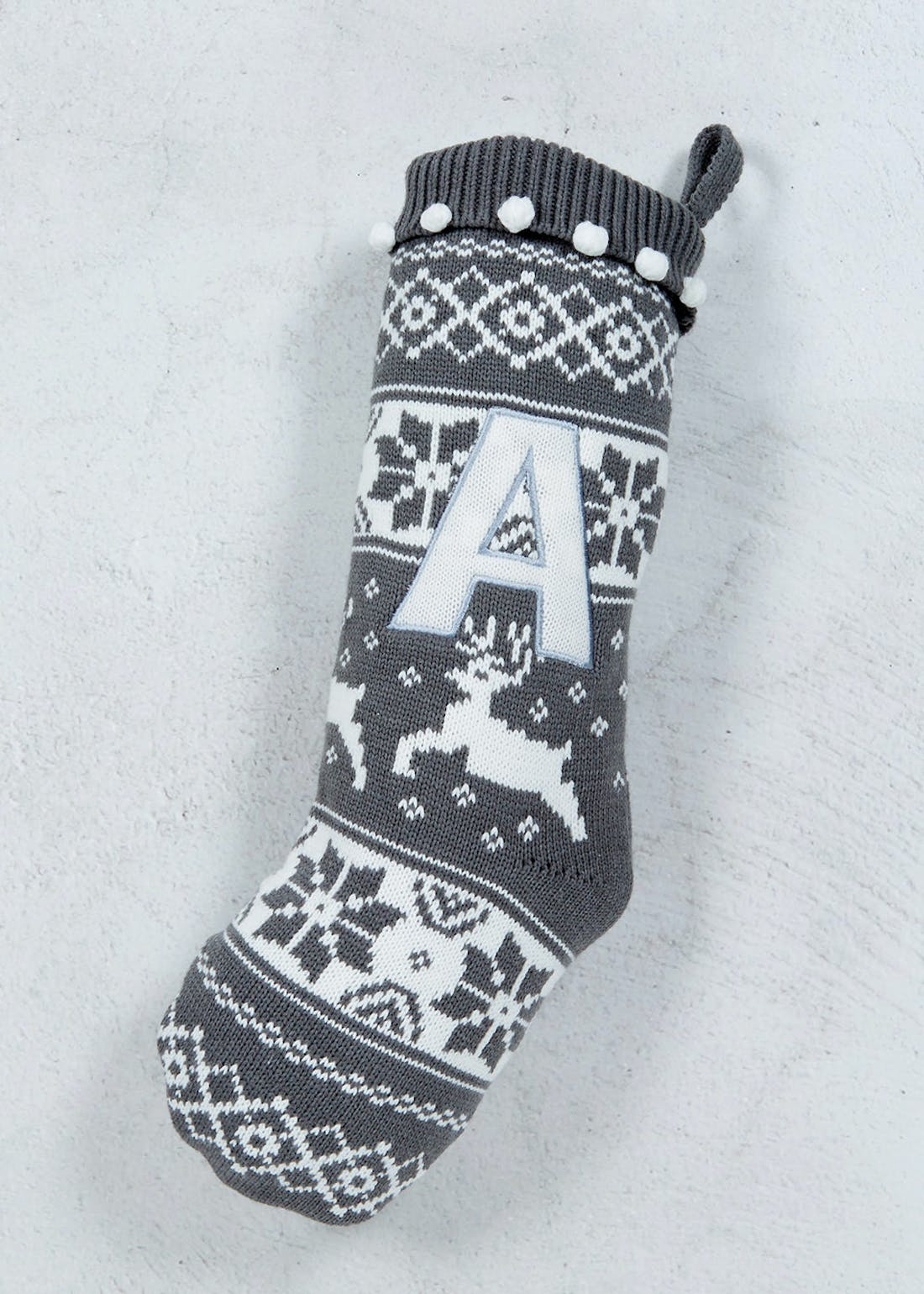 Knitted Alphabet Stocking (55cm x 20cm)